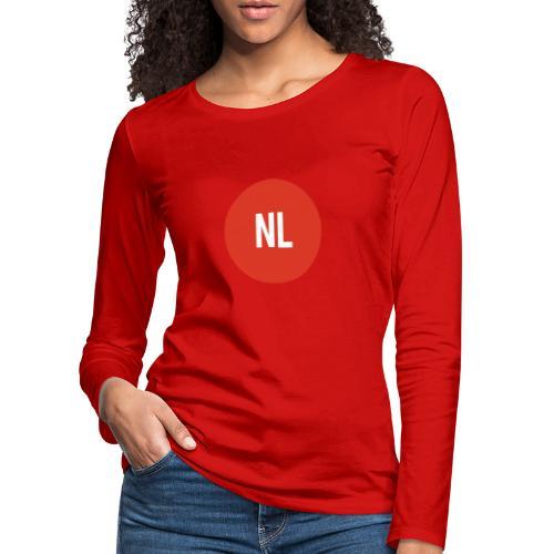 NL logo - Vrouwen Premium shirt met lange mouwen