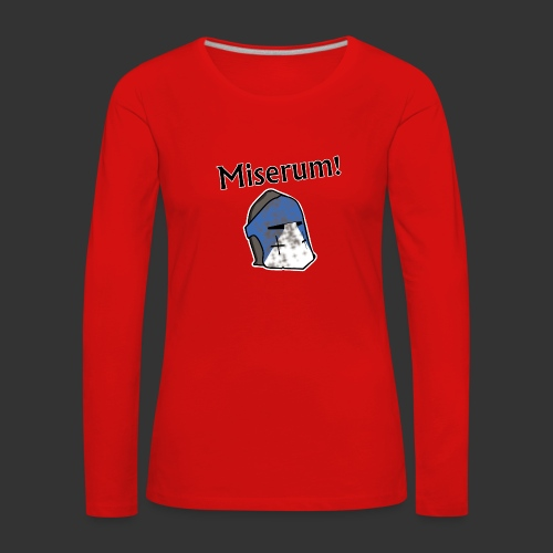 Warden Cytat Miserum! - Koszulka damska Premium z długim rękawem
