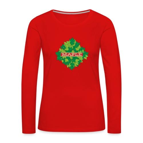 maple - Frauen Premium Langarmshirt