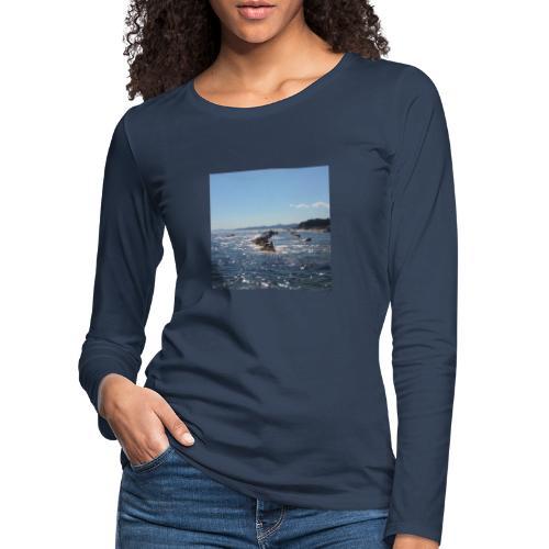 Mer avec roches - T-shirt manches longues Premium Femme
