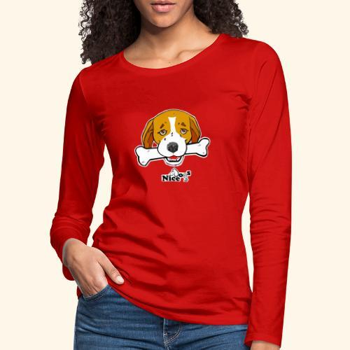 Nice Dogs Semolino - Maglietta Premium a manica lunga da donna
