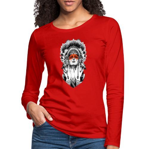 Mujer nativa - Camiseta de manga larga premium mujer