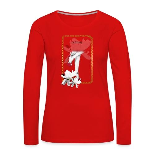 ladylike - Maglietta Premium a manica lunga da donna