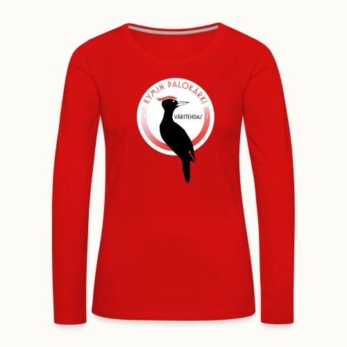 Kymin Palokärki - Naisten premium pitkähihainen t-paita
