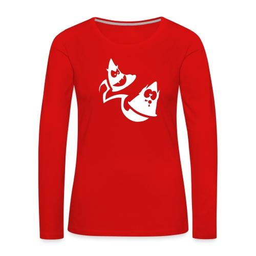 Conos diabolicos con estela - Camiseta de manga larga premium mujer