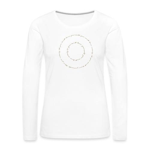 calligrafia white gold - Maglietta Premium a manica lunga da donna