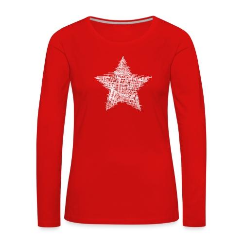 Estrella blanca - Camiseta de manga larga premium mujer