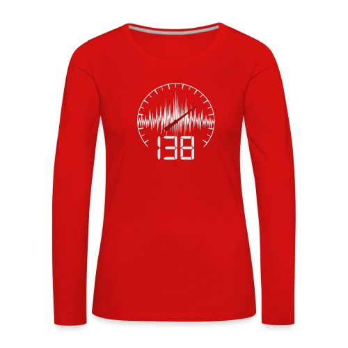 138 (White) - Långärmad premium-T-shirt dam