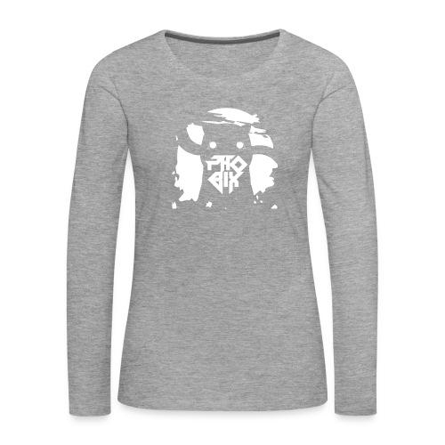 white 01big png - Frauen Premium Langarmshirt