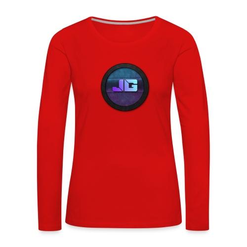 Trui met logo - Vrouwen Premium shirt met lange mouwen