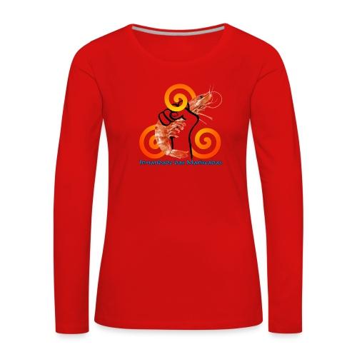 Irmandade das Mariscadas - Camiseta de manga larga premium mujer
