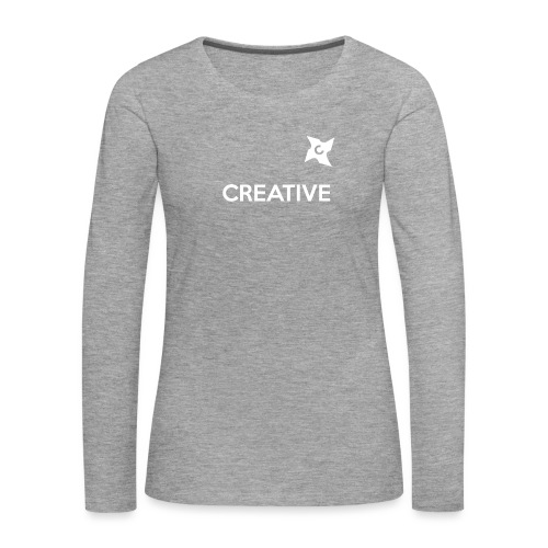 Creative simple black and white shirt - Dame premium T-shirt med lange ærmer