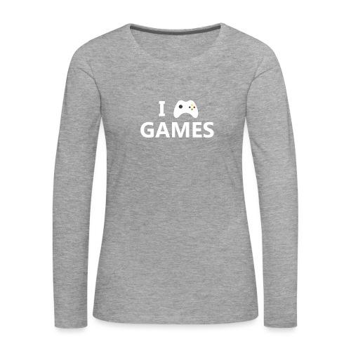 I Love Games 2 - Camiseta de manga larga premium mujer