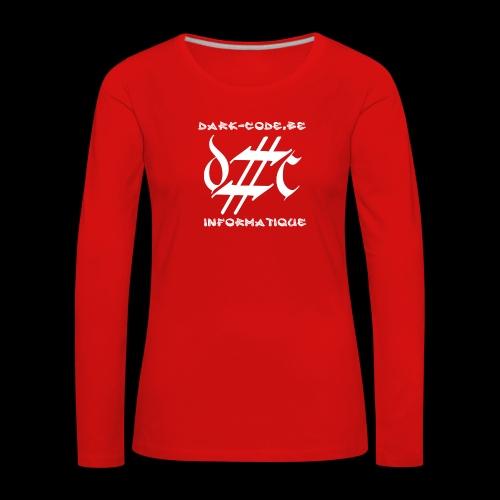 Dark-Code Gothic Logo - T-shirt manches longues Premium Femme
