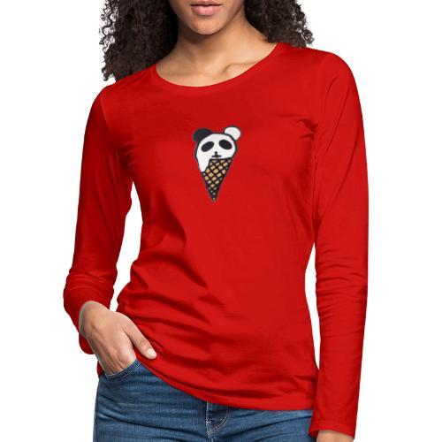 Petit Panda - T-shirt manches longues Premium Femme