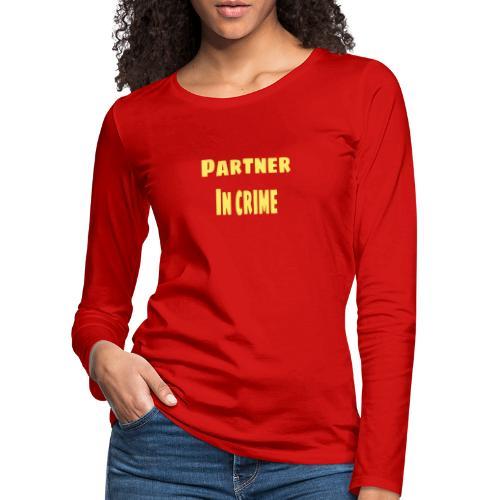 Partner in crime yellow - Långärmad premium-T-shirt dam