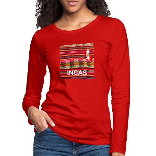Telar inca Mapa del Peru - T-shirt manches longues Premium Femme