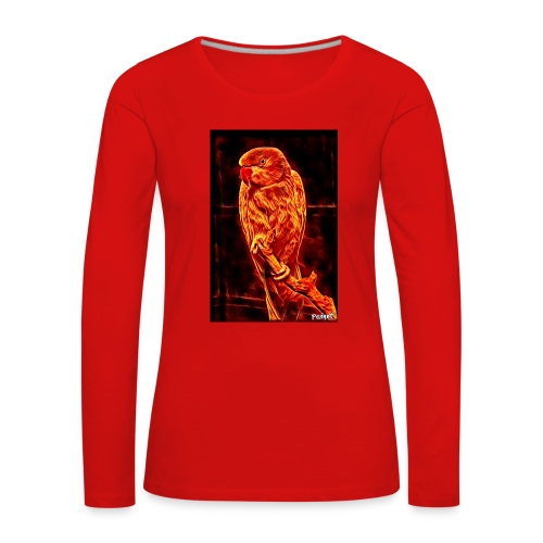Bird in flames - Naisten premium pitkähihainen t-paita