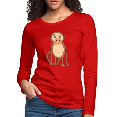 Bobo le singe - T-shirt manches longues Premium Femme