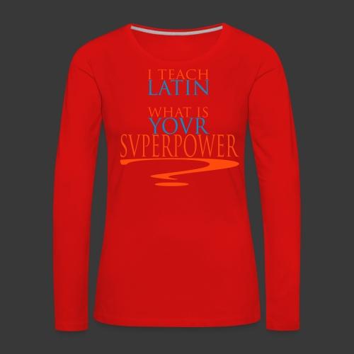 svperpower - Women's Premium Longsleeve Shirt