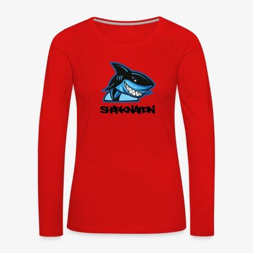 SHARKNATION / Black Letters - Vrouwen Premium shirt met lange mouwen