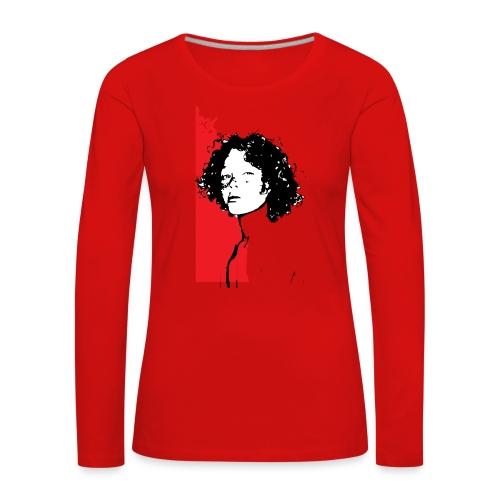 L'enfant rouge représente la terre rouge d'Afrique - T-shirt manches longues Premium Femme