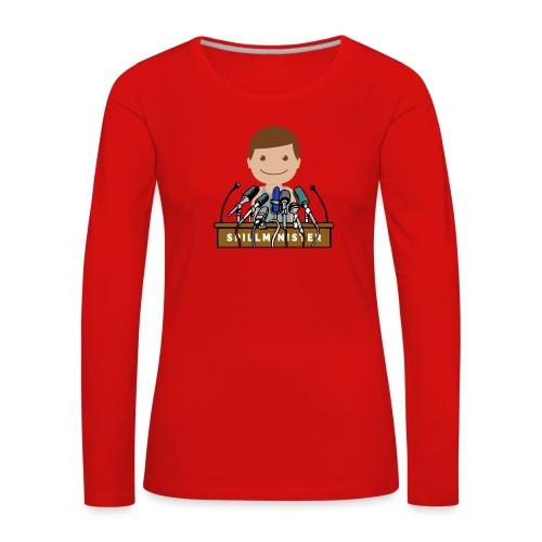 Spillminister logoen - Premium langermet T-skjorte for kvinner