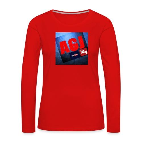 AGJ Nieuw logo design - Vrouwen Premium shirt met lange mouwen