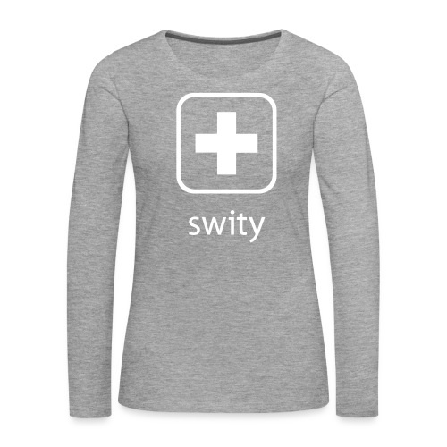 Schweizerkreuz-Kappe (swity) - Frauen Premium Langarmshirt