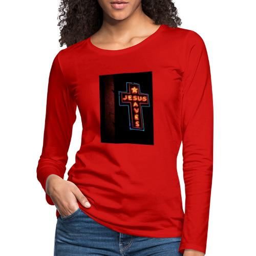 Jesus Saves - Women's Premium Longsleeve Shirt