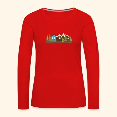 casettaAC - Maglietta Premium a manica lunga da donna