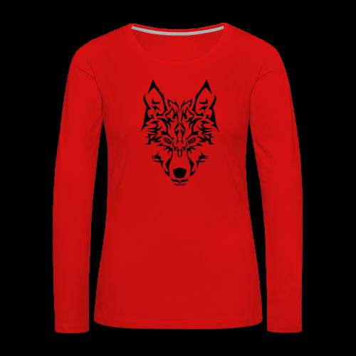 Tribal Wolf - T-shirt manches longues Premium Femme