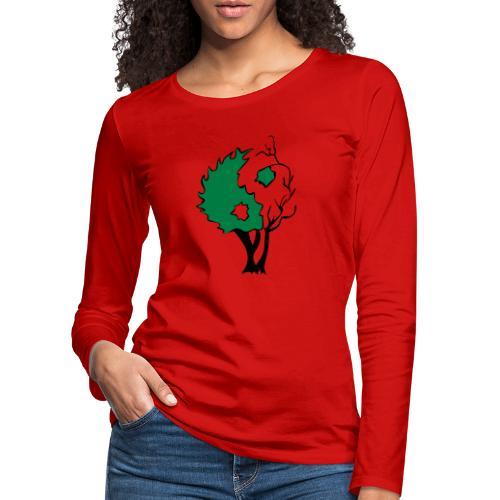 Yin Yang Arbre - T-shirt manches longues Premium Femme