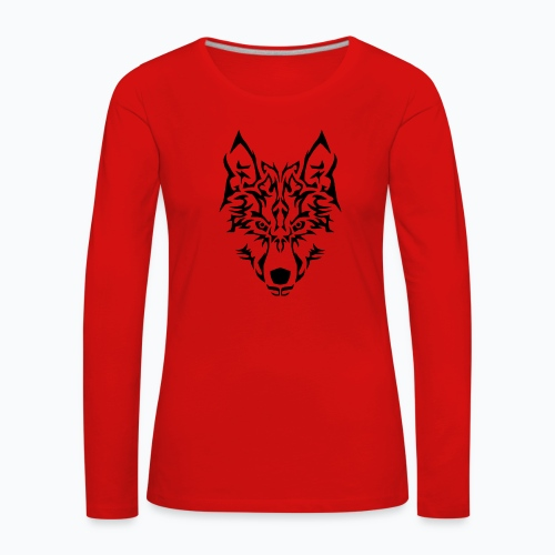 Tribal Wolf - T-shirt manches longues Premium Femme