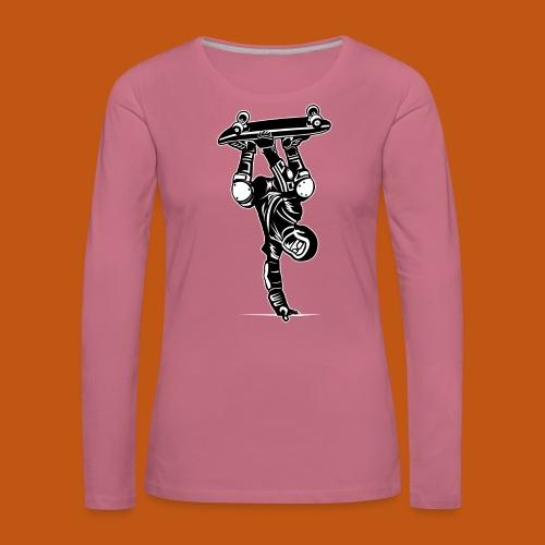 Skater / Skateboarder 02_schwarz weiß - Frauen Premium Langarmshirt