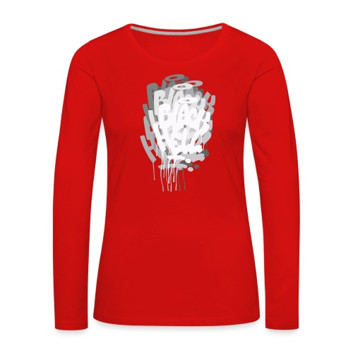 bombing-x grigio - Maglietta Premium a manica lunga da donna
