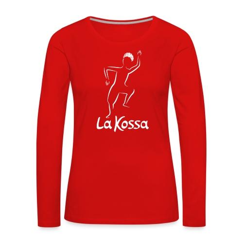 La Kossa - Unser Herz tanzt bunt - Logo weiß - Frauen Premium Langarmshirt