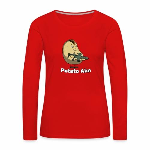 Mr Potato Aim - Women's Premium Longsleeve Shirt