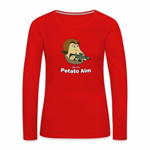 Mrs Potato Aim - Women's Premium Longsleeve Shirt