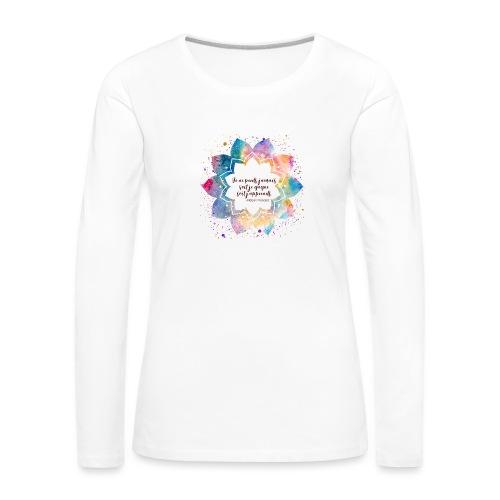 Citation de Nelson Mandela - T-shirt manches longues Premium Femme