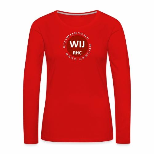 RIJSWIJKSCHE HOCKEY CLUB - Vrouwen Premium shirt met lange mouwen