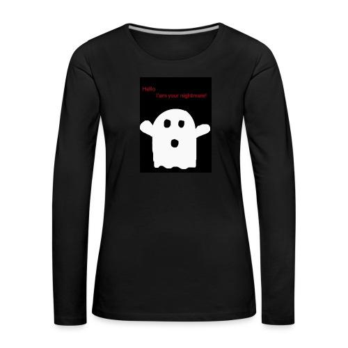Cute Ghost - Naisten premium pitkähihainen t-paita