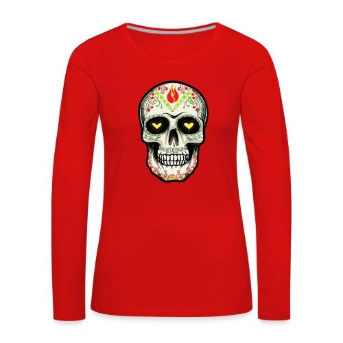 TETE DE MORT 1 - T-shirt manches longues Premium Femme