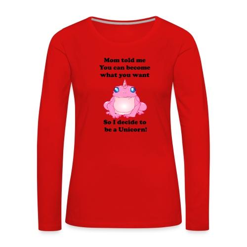 frogunicorn - T-shirt manches longues Premium Femme