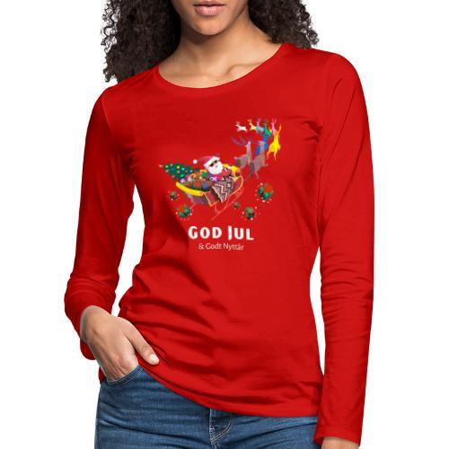 god jul og godt nyttår - Premium langermet T-skjorte for kvinner
