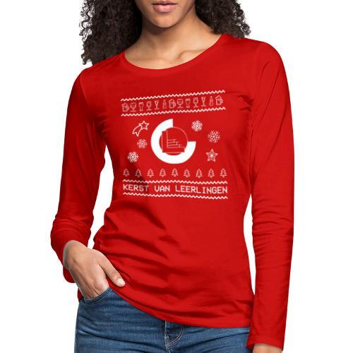 CvL Ugly Christmas Design - Vrouwen Premium shirt met lange mouwen