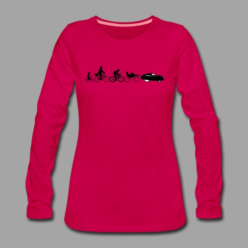 Bicycle evolution black - Naisten premium pitkähihainen t-paita