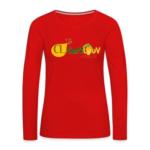 CarVlouV - Camiseta de manga larga premium mujer