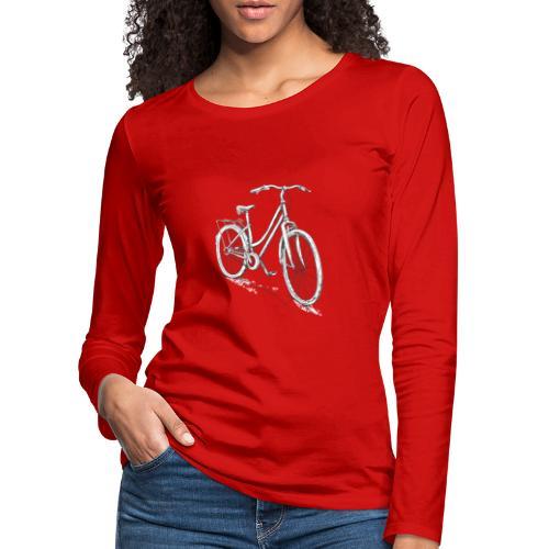 Fahrrad Für Damen Zeichnung - Frauen Premium Langarmshirt