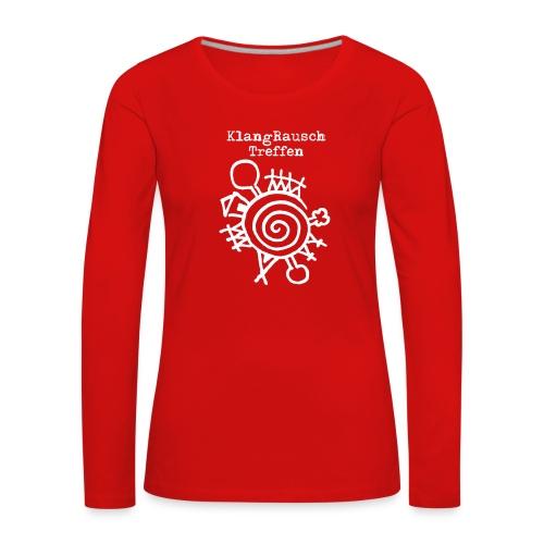 KlangRauschTreffen Logo mit Schrift - Frauen Premium Langarmshirt